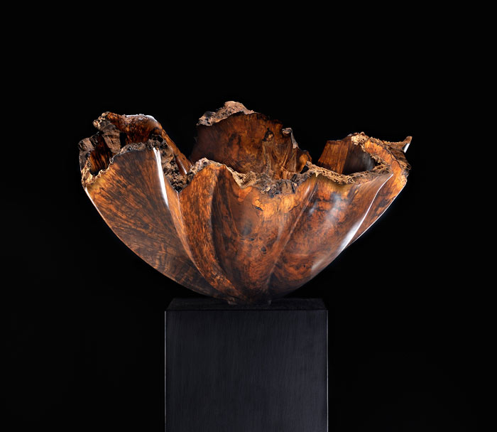 "Tectonic Series Back Arc #219""h x 32""w x 30""dBlack Walnut Burl"