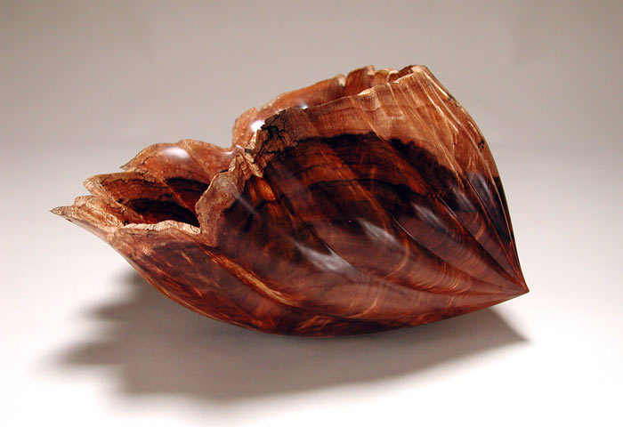 "Shell Series #6017""h x 21""w x 10""dCurly Koa"